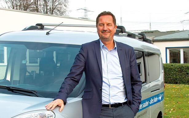 Frank Wahl ist Geschäftsführer der Mettmanner Gebäudereinigung Reils & Wahl GmbH.